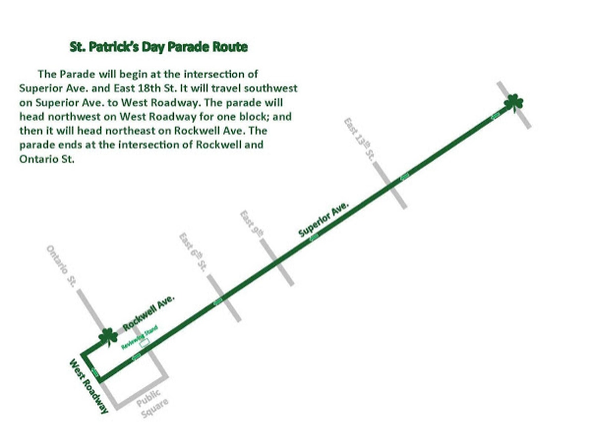 Schedule, participant details released for 2019 St. Patrick's Day Parade in downtown Cleveland