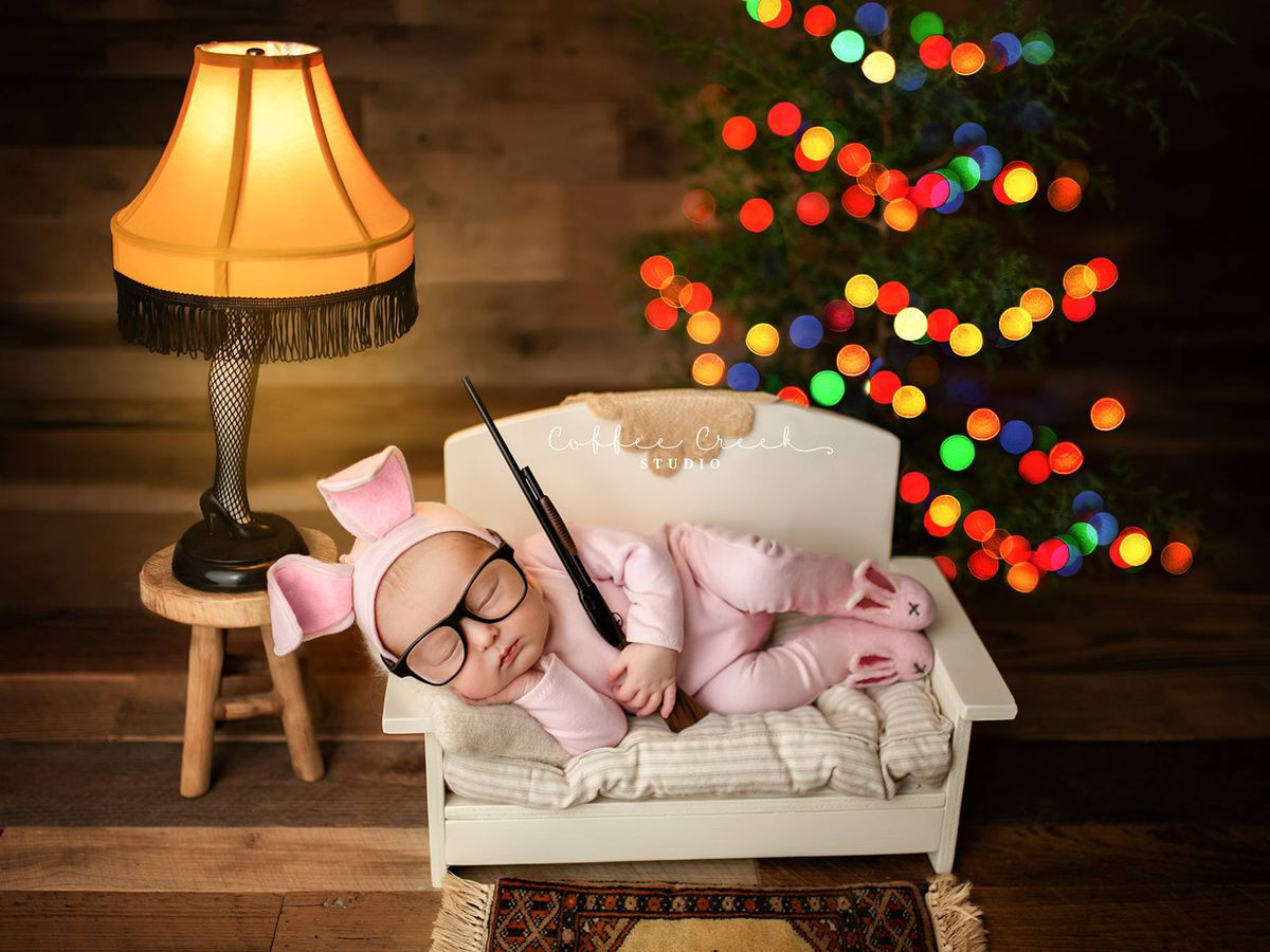 Photographer defends use of fake BB gun in 'A Christmas Story' newborn shoot
