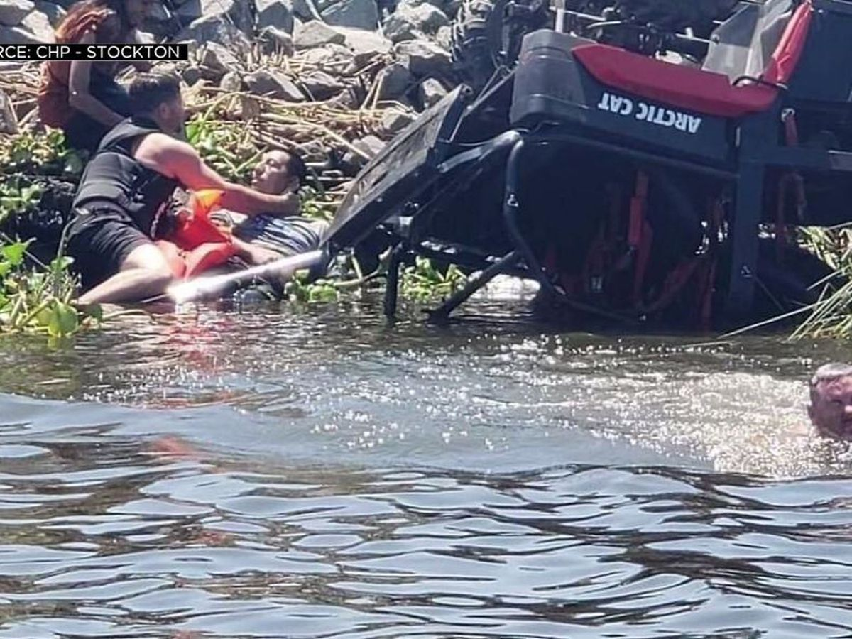 Off-duty deputy, friend save 3 lives after ATV flips into water in Calif.