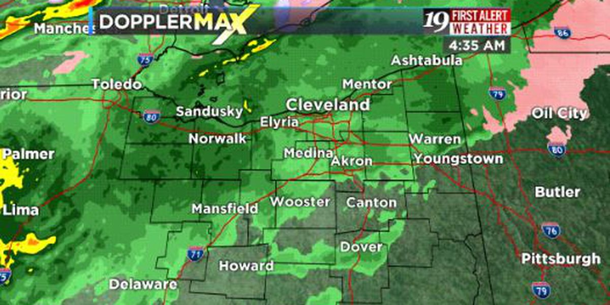 Northeast Ohio Weather: Heavy rain and wind today