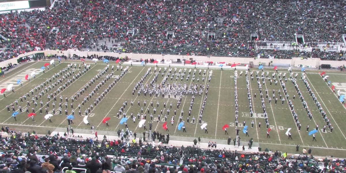 OSU, MSU marching bands perform 'America the Beautiful' in honor of Veterans Day (video)