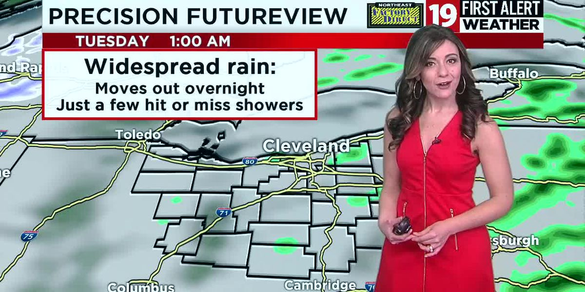 Northeast Ohio weather: Rain ends tonight, temperatures tumble tomorrow