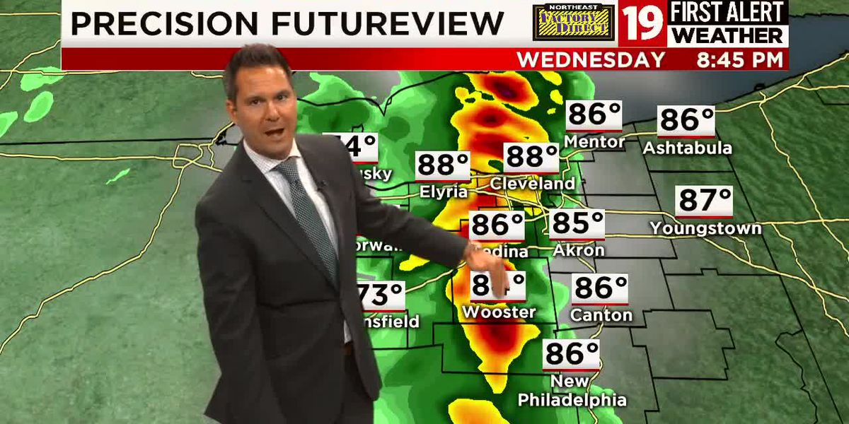 19 First Alert Weather: Severe threat winding down, cooler, more comfortable day tomorrow