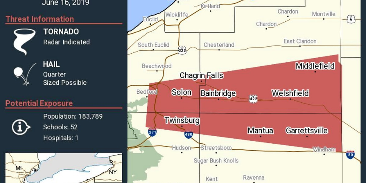 Tornado Warnings issued for Northeast Ohio