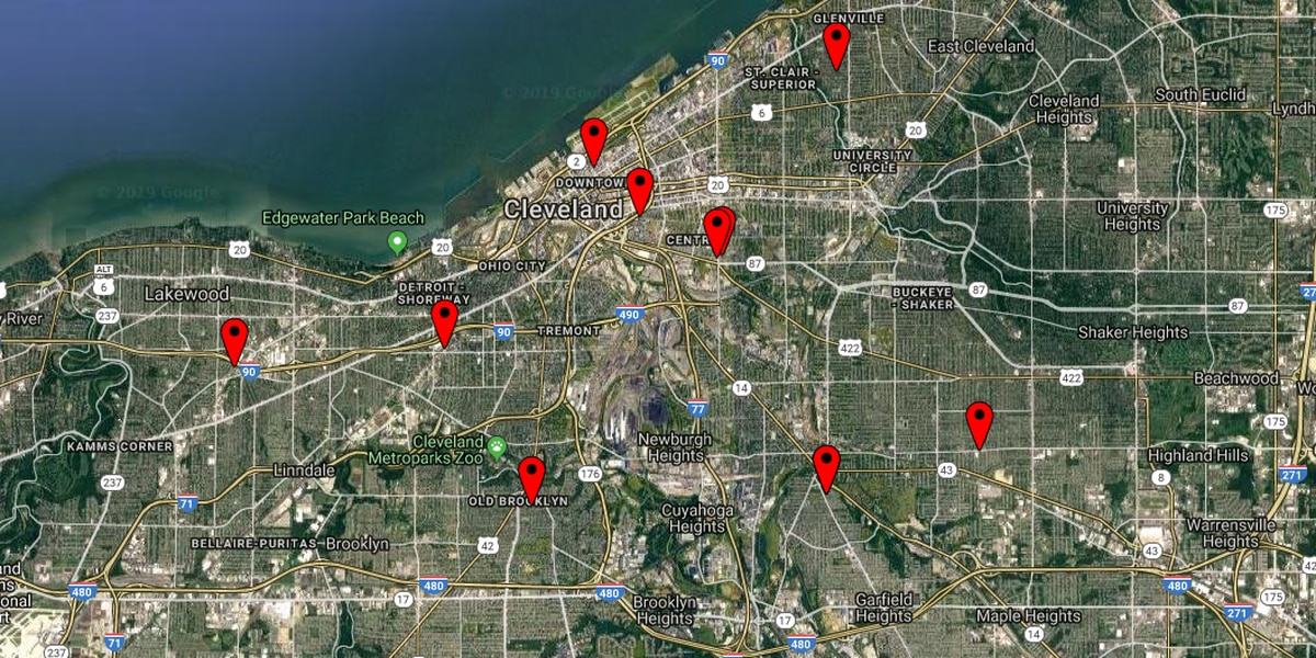 13 people shot in Cleveland during 9-hour span on New Year's Eve, New Year's Day