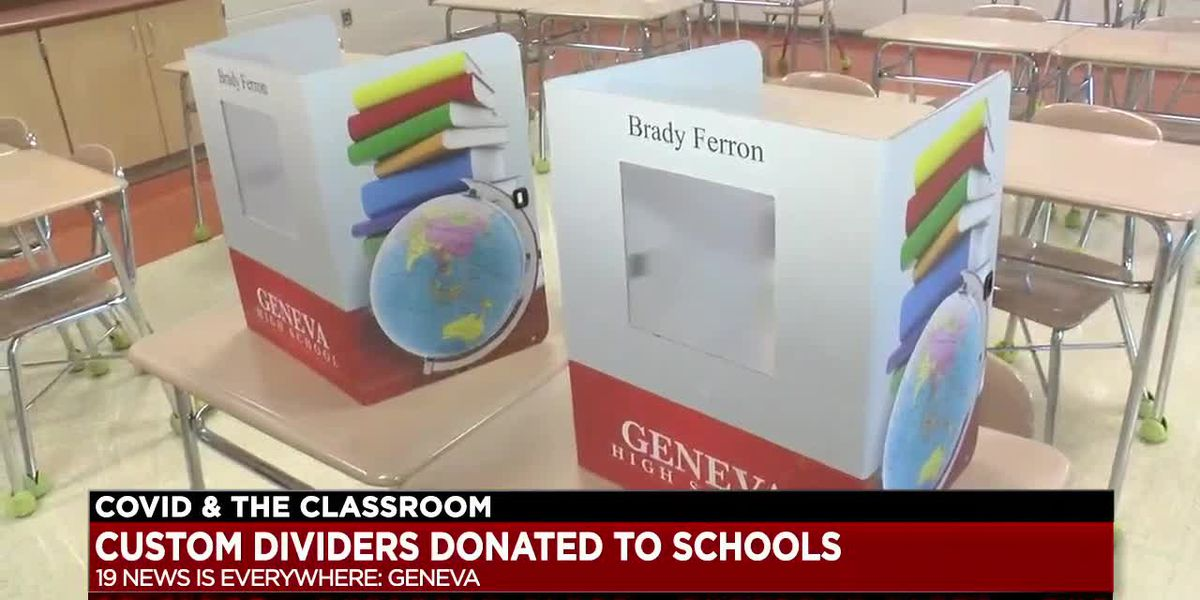 Geneva native donates customized safety dividers to students in Geneva Area City Schools