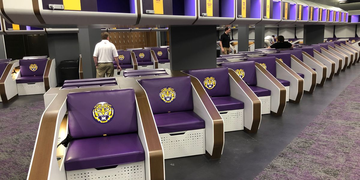 Sunny Side Up: LSU shows off $28 million locker room renovation
