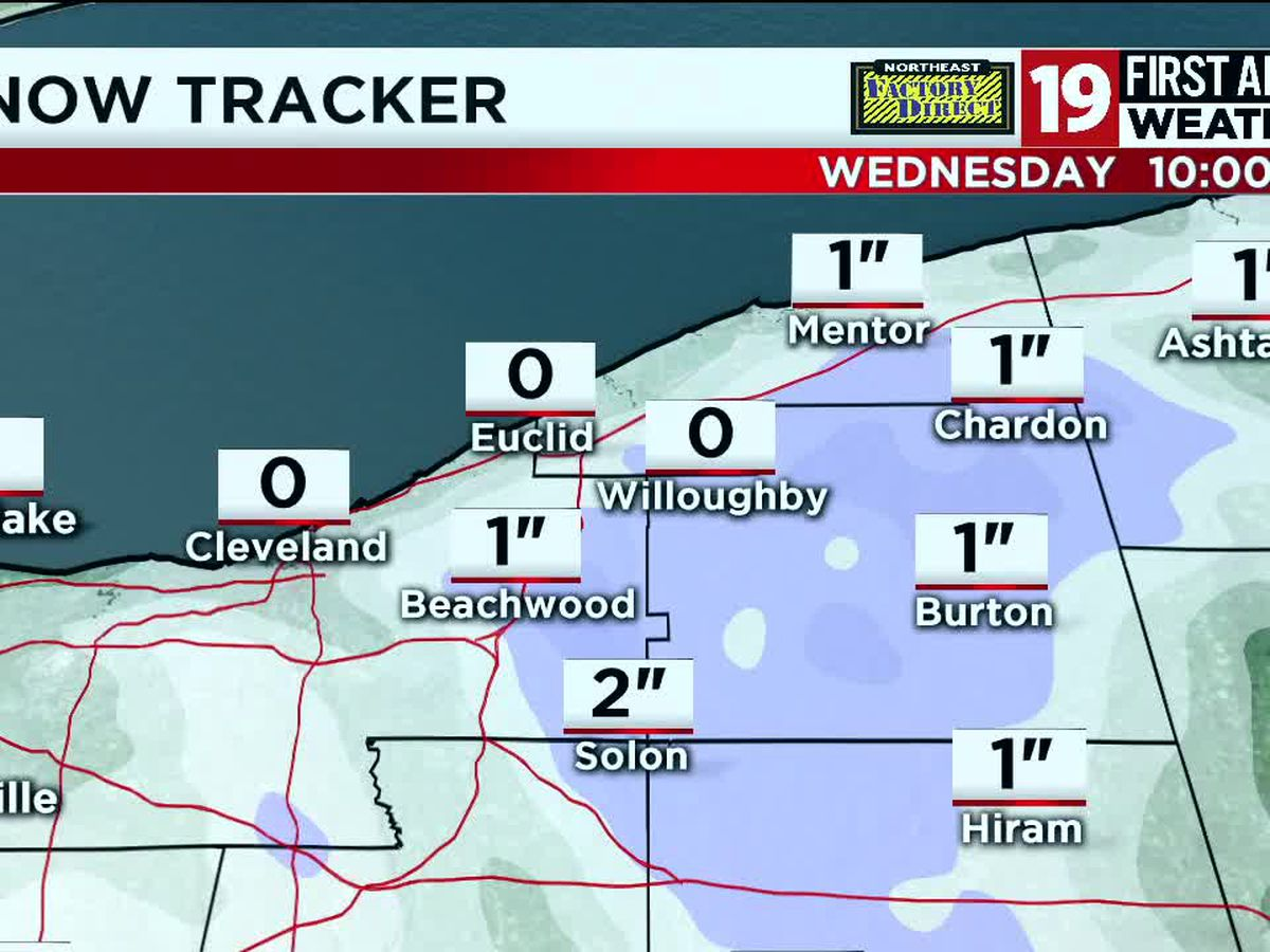 "Northeast Ohio weather: Lake effect snow showers move through on Wednesday, 1"" – 4"" possible"