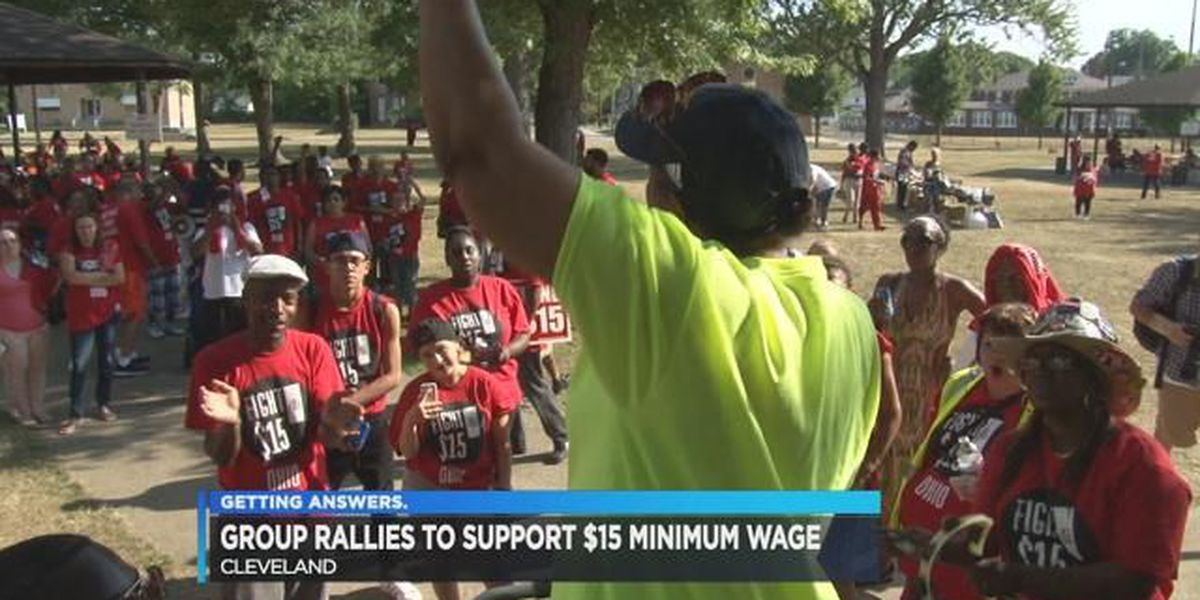 Hundreds gather at 'Fight For 15' minimum wage rally