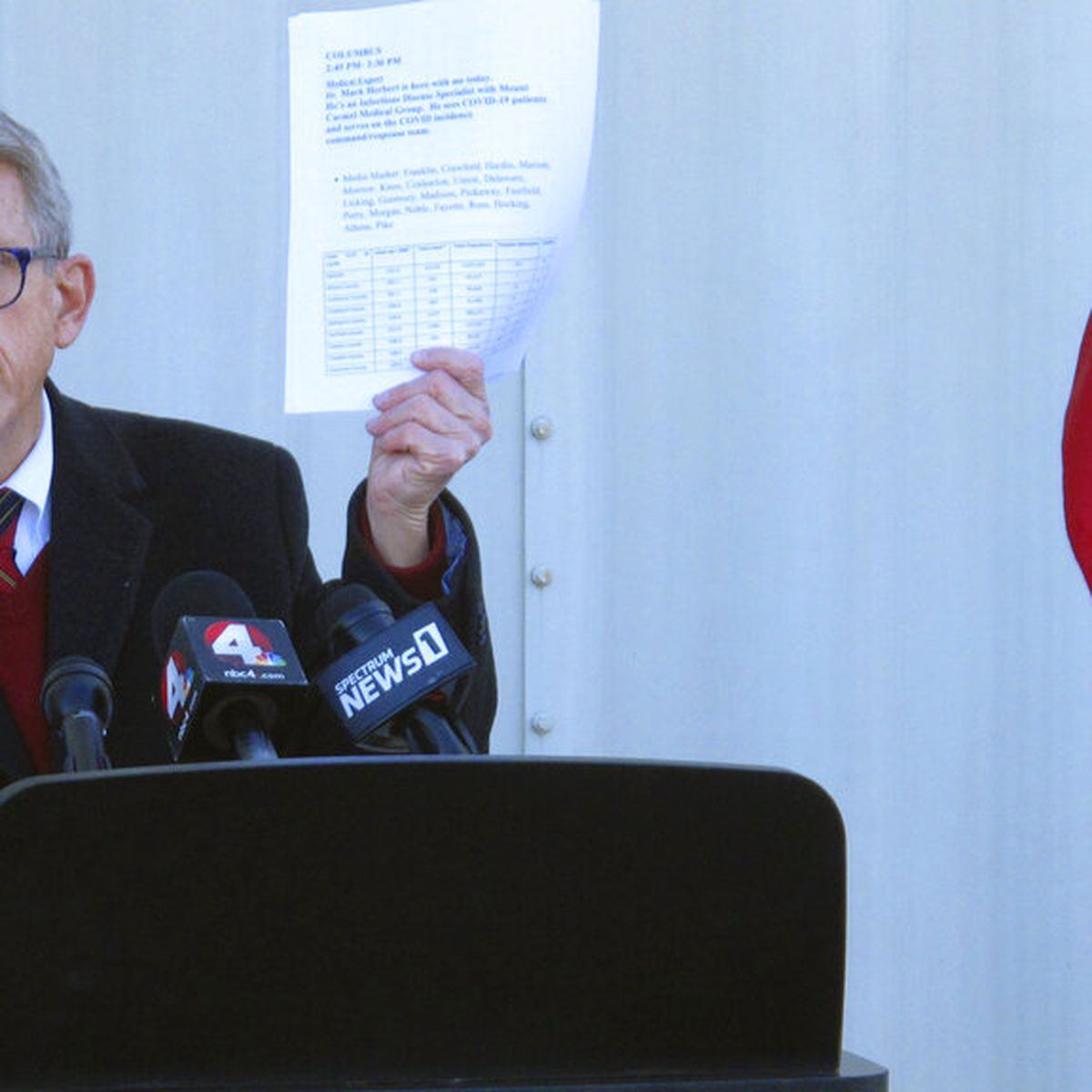 Ohio Gov. DeWine visits COVID-19 vaccination site in East Cleveland