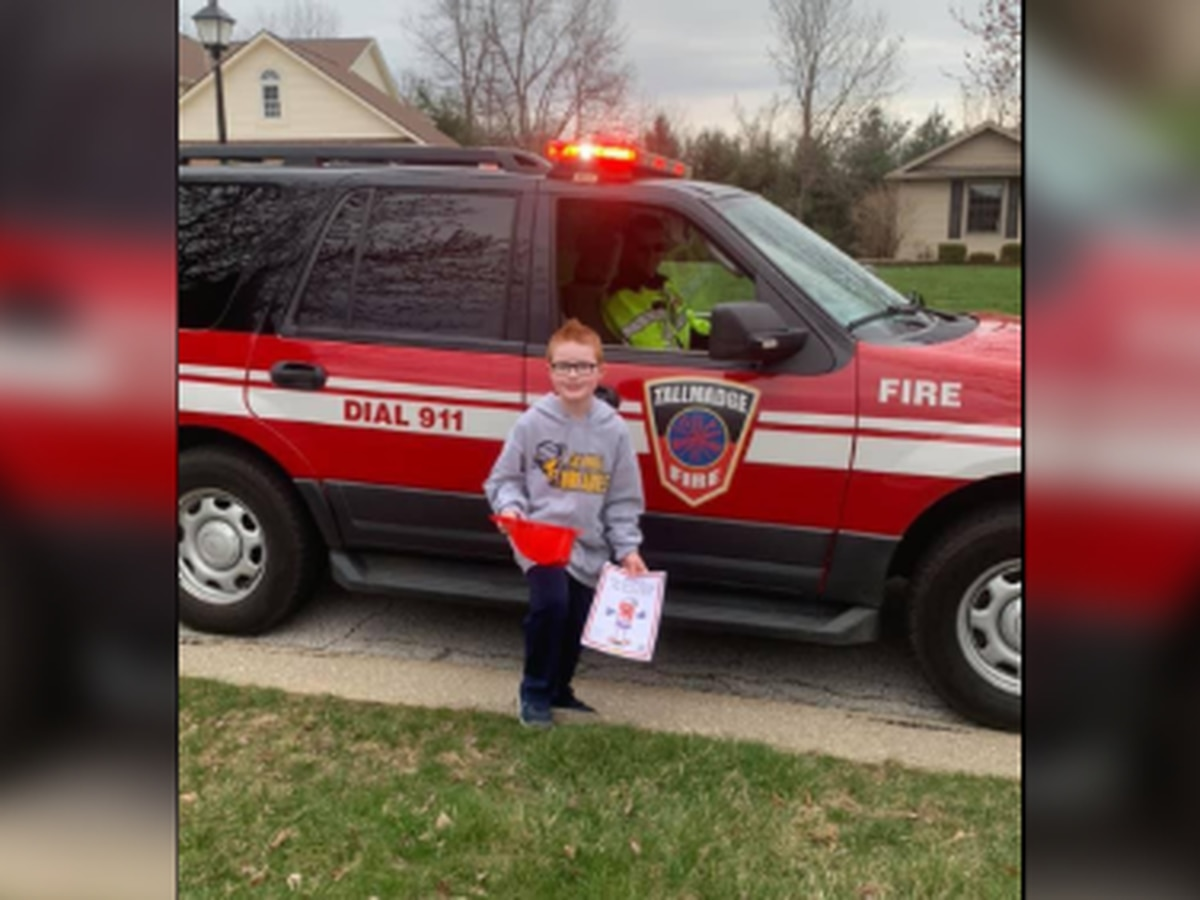 Little boy in Tallmadge gets 'birthday parade' after party canceled due to COVID-19 pandemic