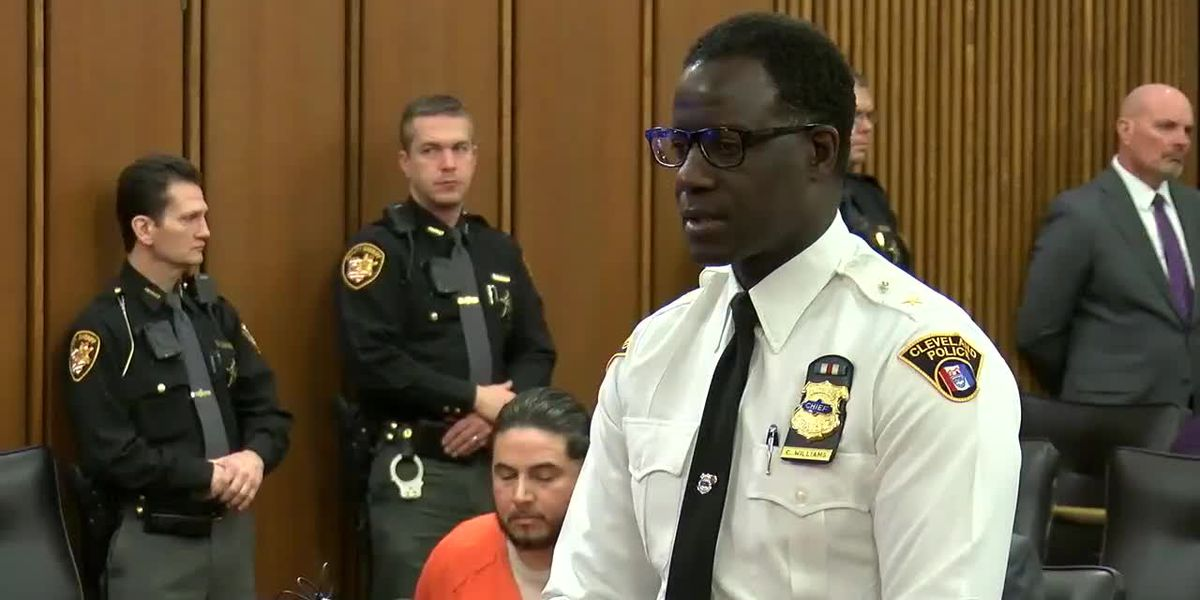 Chief Calvin Williams speaks at sentencing for Israel Alvarez