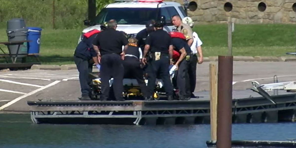 Cleveland fisherman rescued after taking spill off break wall