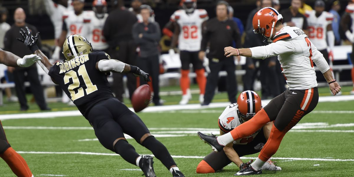 Browns' Zane Gonzalez trending for all the wrong reasons