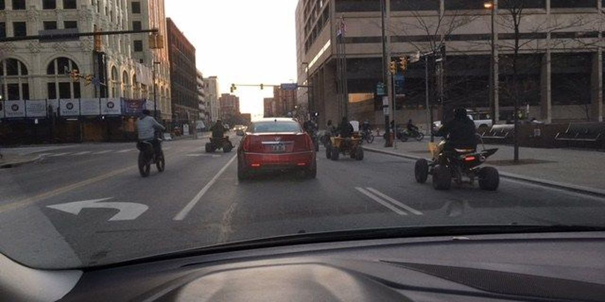 Dirt bikes, ATVs back out on Cleveland streets because of warm weather