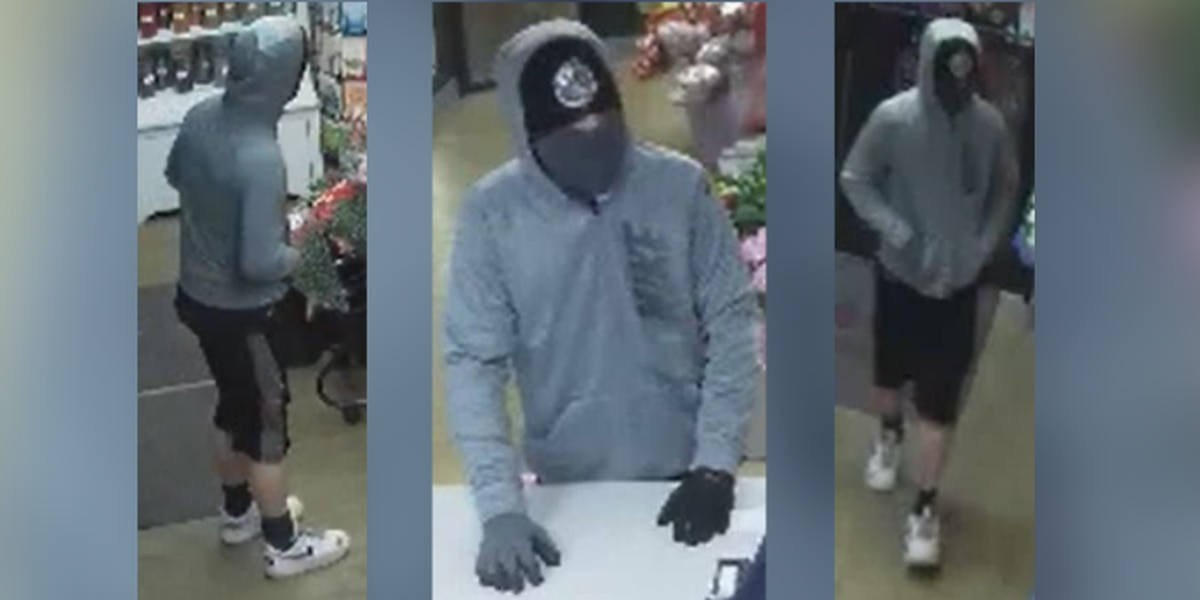 Police release photos of man accused of robbing Akron flower shop
