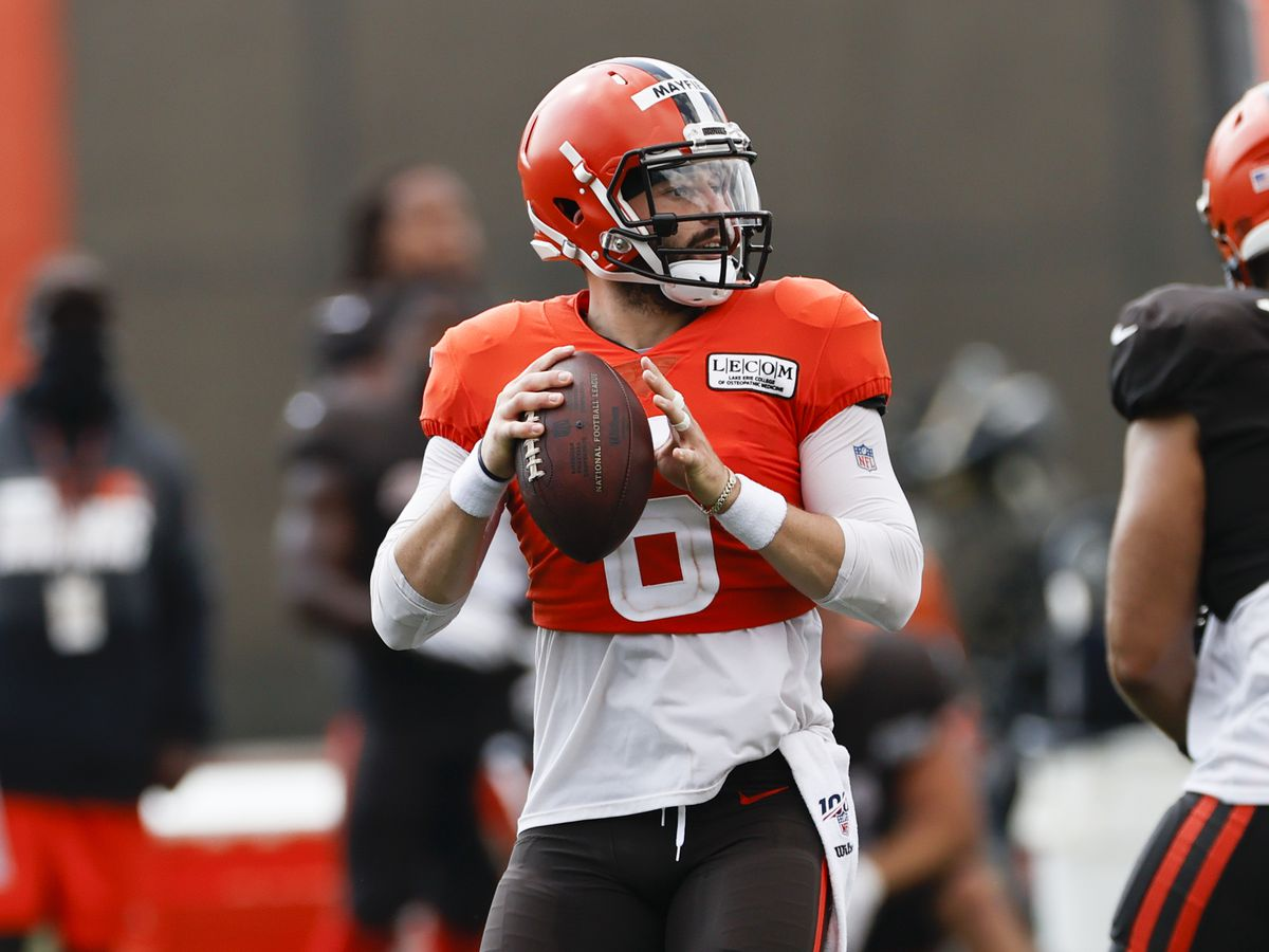 Cleveland Browns quarterback Baker Mayfield says he will stand for the national anthem