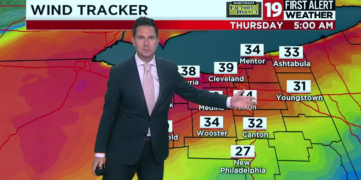 Northeast Ohio weather: Winds back off for Thursday, highs in the 60s