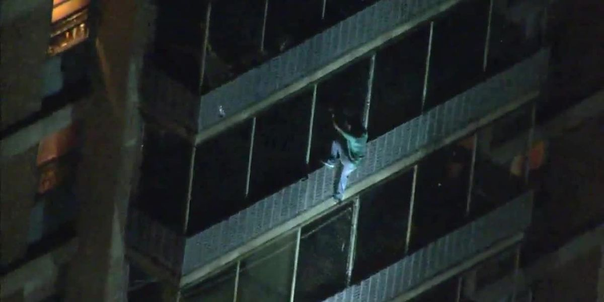 Real-life 'Spider-Man' scales down Philadelphia high-rise to escape fire