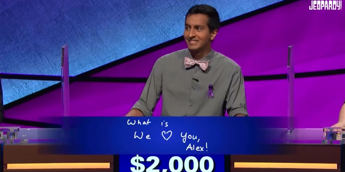 Jeopardy! contestant's heartfelt final answer gets host Alex Trebek choked up