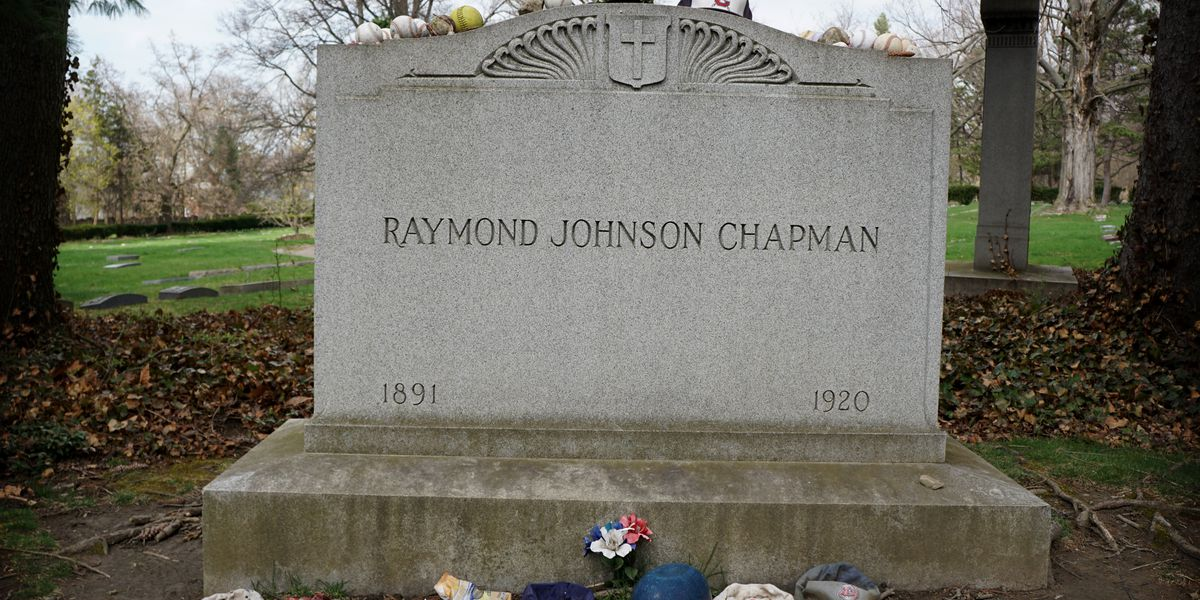 Cleveland is final resting place for the only Major League Baseball player to die playing the game