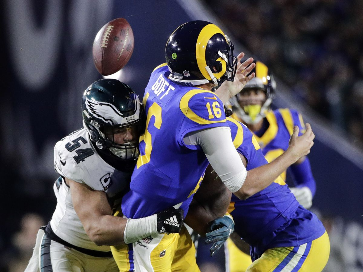 Back in the game: Foles leads Eagles past Rams 30-23