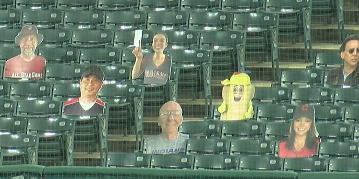 Cleveland Indians figure out ways to fill empty seats for Opening Day as fans watch the game from home