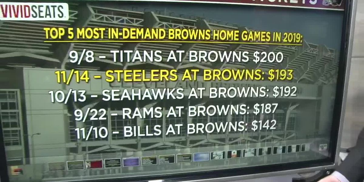 Big bucks needed if you're thinking about a ticket for the Browns/Steelers game Thursday night