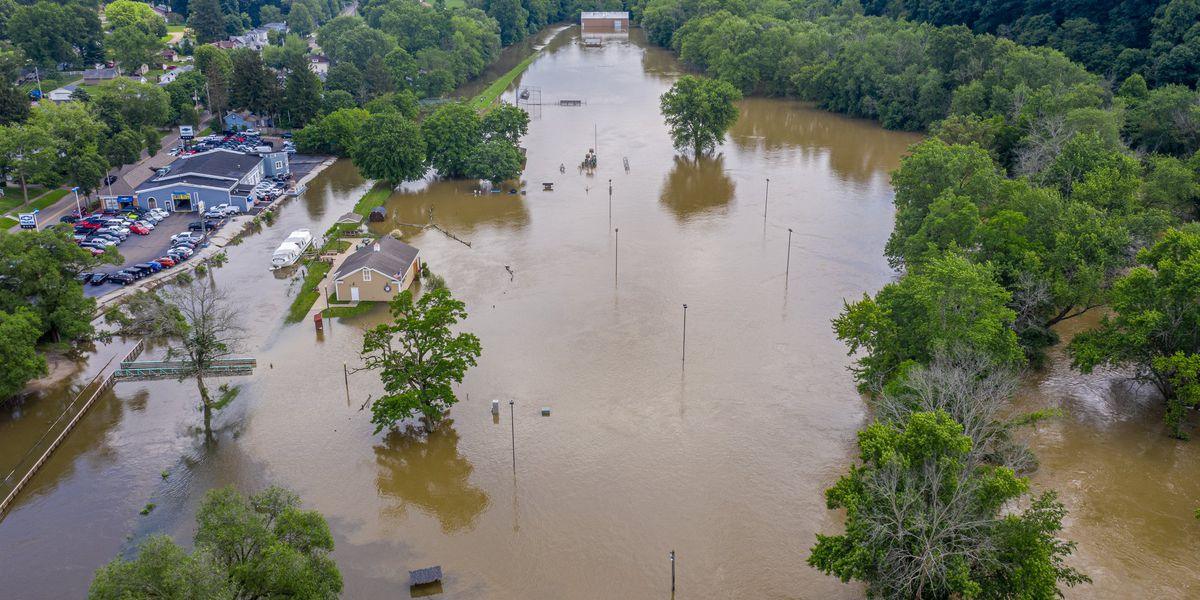 Drone photos reveal scope of flood crisis in Canal Fulton, and more rain is on the way