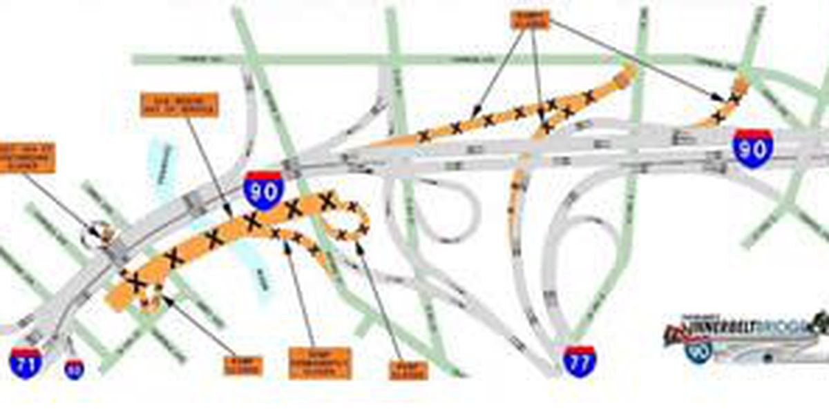 Innerbelt Bridge Project: Series of traffic shifts to take place
