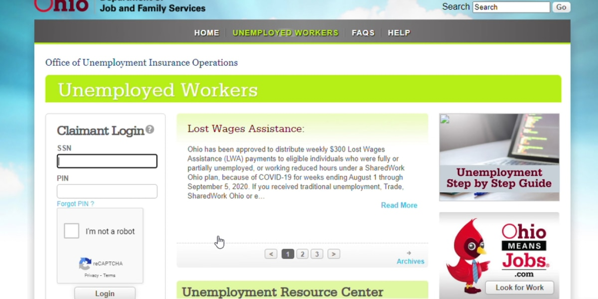 Thousands of Ohioans reopening unemployment claims as coronavirus cases increase and state mandates curfew