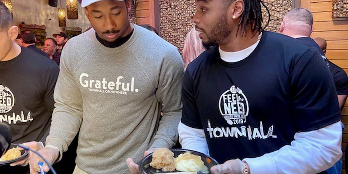 Browns' Myles Garrett chooses words carefully about NFL suspension while serving homeless meals in Cleveland