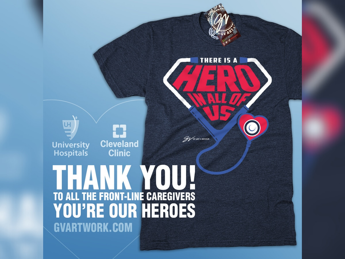 GV Art + Design teams up with Cleveland Clinic and University Hospitals for T-shirt to support healthcare 'heroes'
