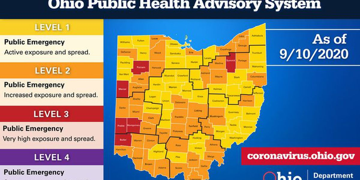 30 deaths, an additional 1,121 COVID-19 cases reported in Ohio over the last 24 hours