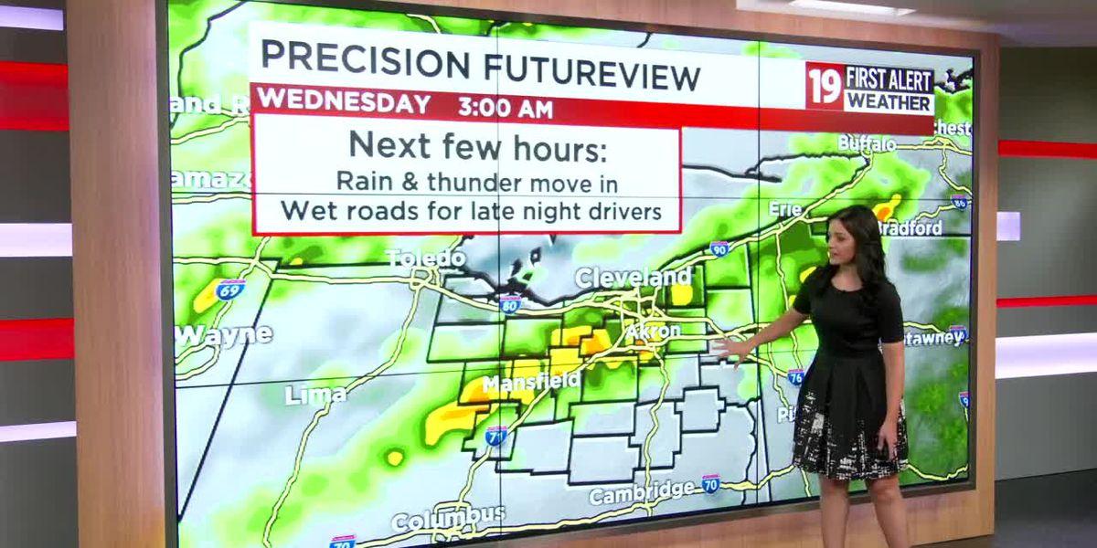 Northeast Ohio weather: Storms overnight may produce heavy rain