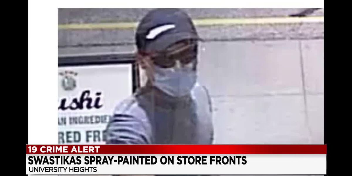 University Heights Police release photo of man accused of spray painting anti-Semitic symbols and messages on local businesses
