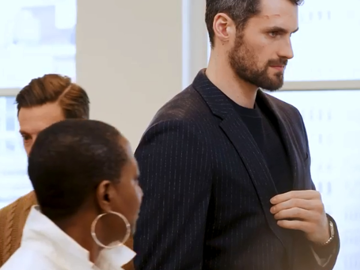 Kevin Love models new collection with Banana Republic