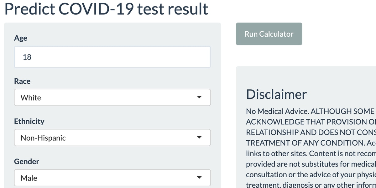 Cleveland Clinic develops first of its kind Covid-19 risk calculator