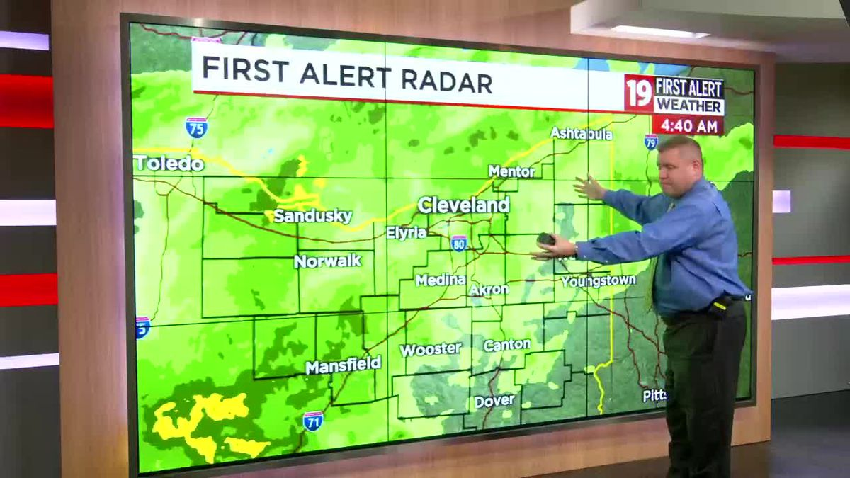Northeast Ohio Weather: Gloomy day with rain; afternoon temperatures in the low-mid 50s