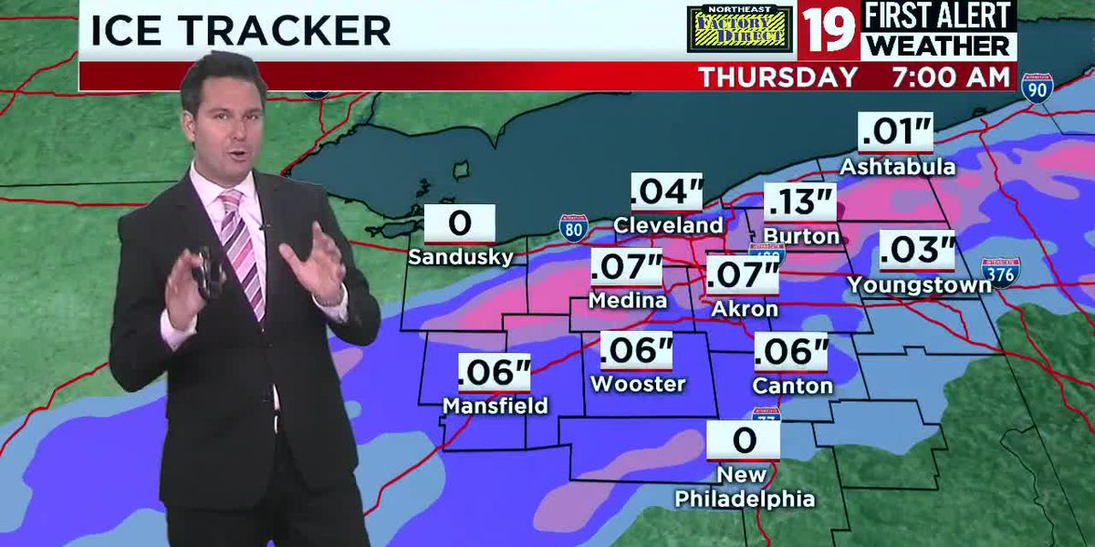 19 First Alert Weather: Icy wintry mix overnight mean slick spots tomorrow morning