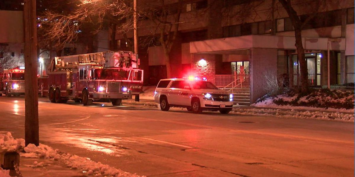 Man severely burned in downtown Cleveland blaze; firefighter also hospitalized
