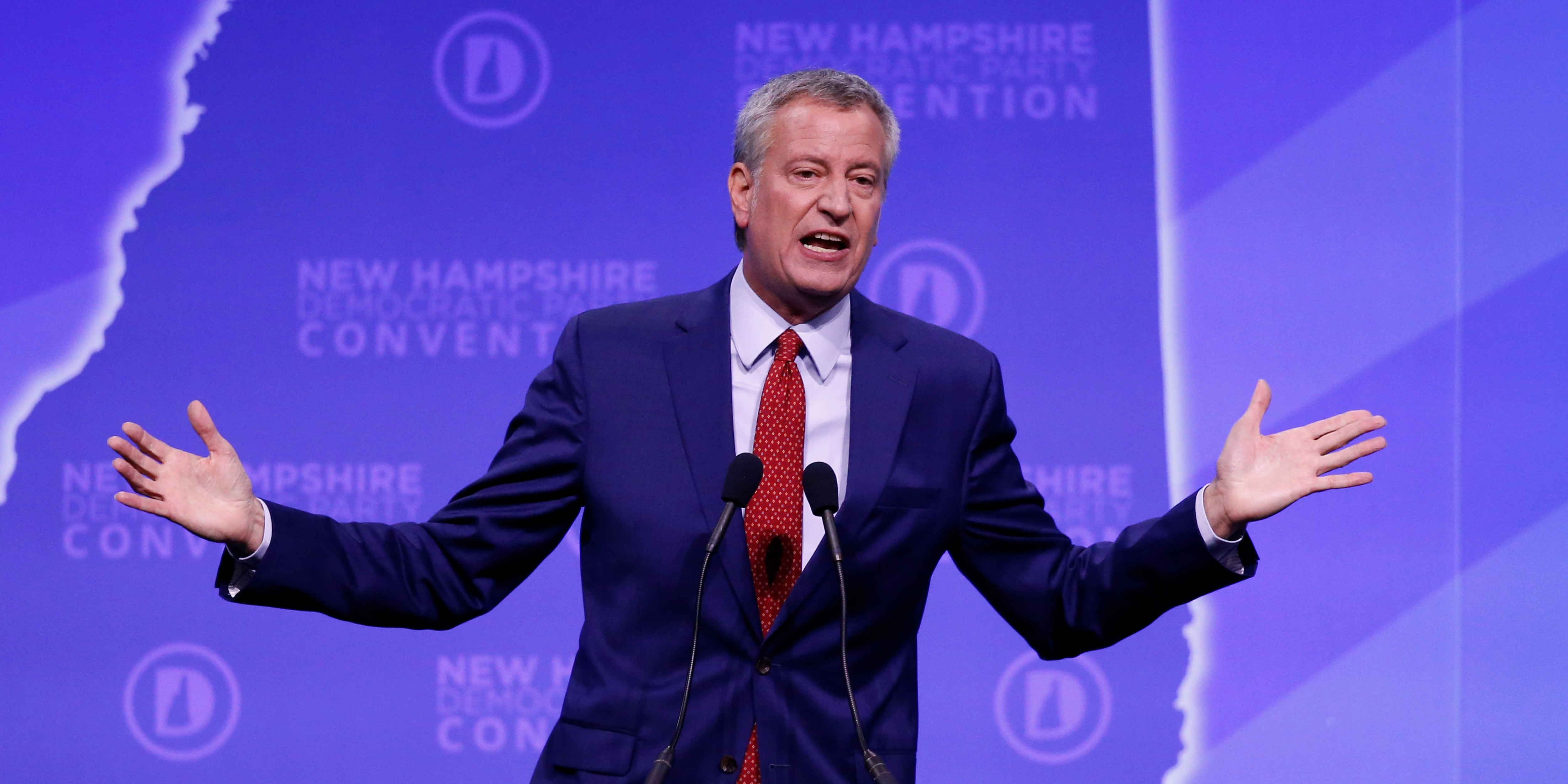 New York Mayor Bill de Blasio drops 2020 presidential bid
