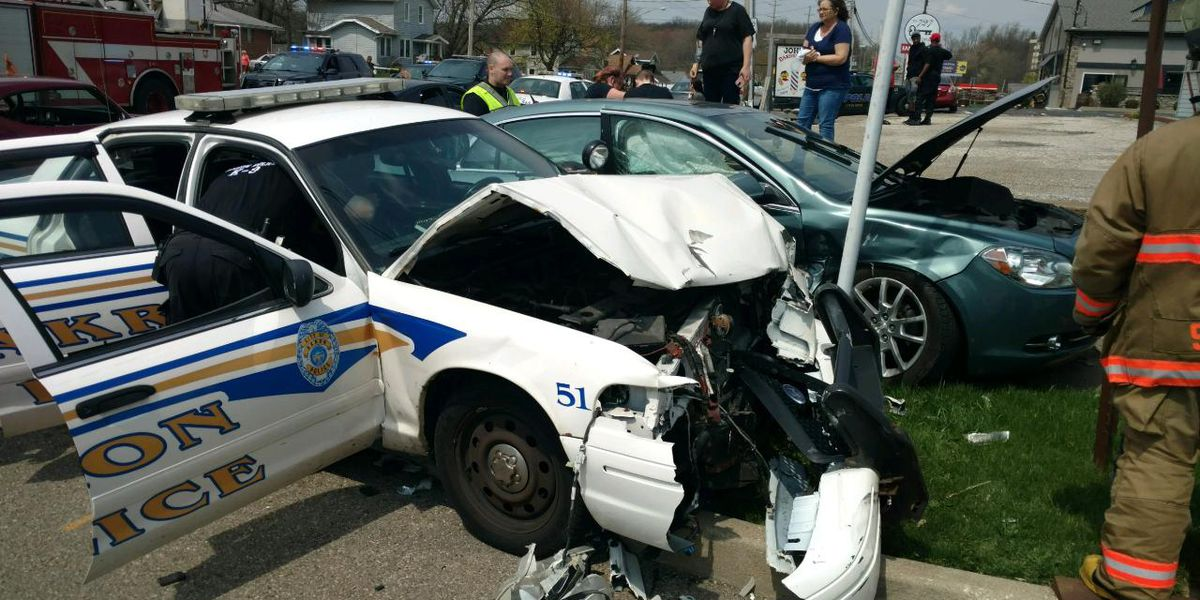 Woman with no driver's license smashes into Akron police cruiser during funeral procession