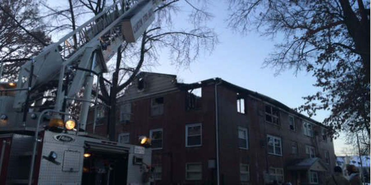 Fire breaks out inside Canton apartment complex, several families displaced
