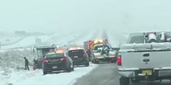 Wicked winter storm moves across Midwest
