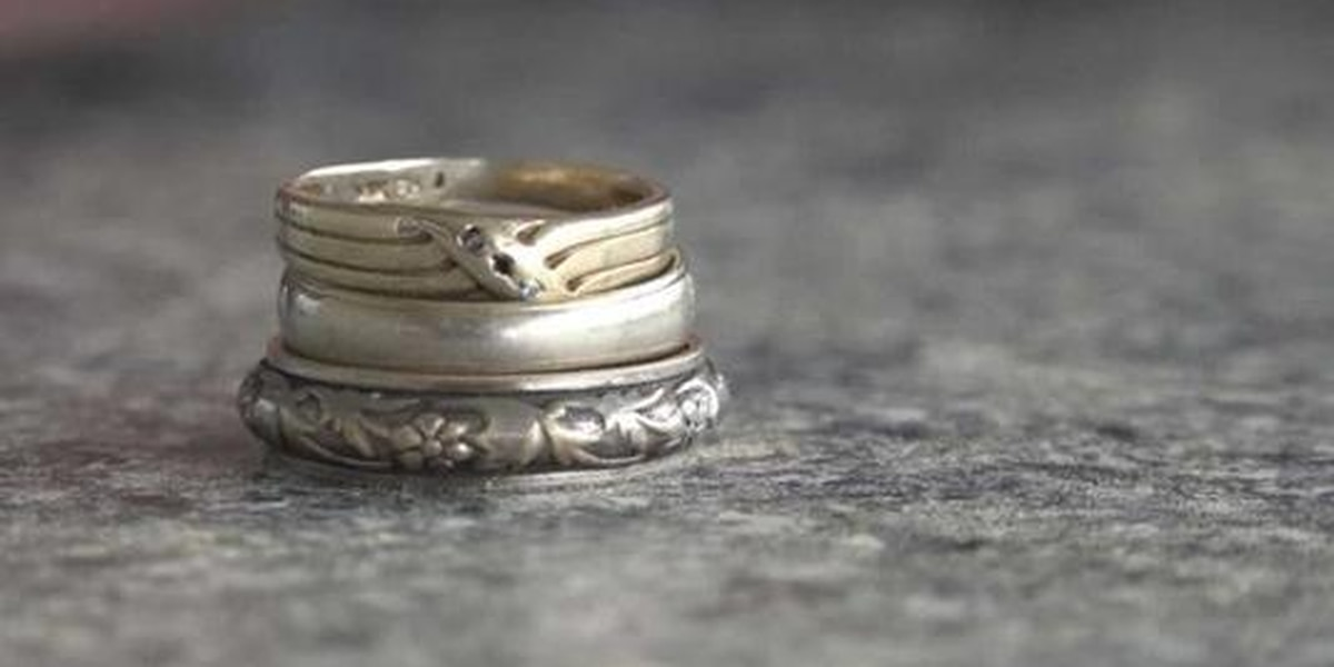 Grandparent's wedding rings found after fire
