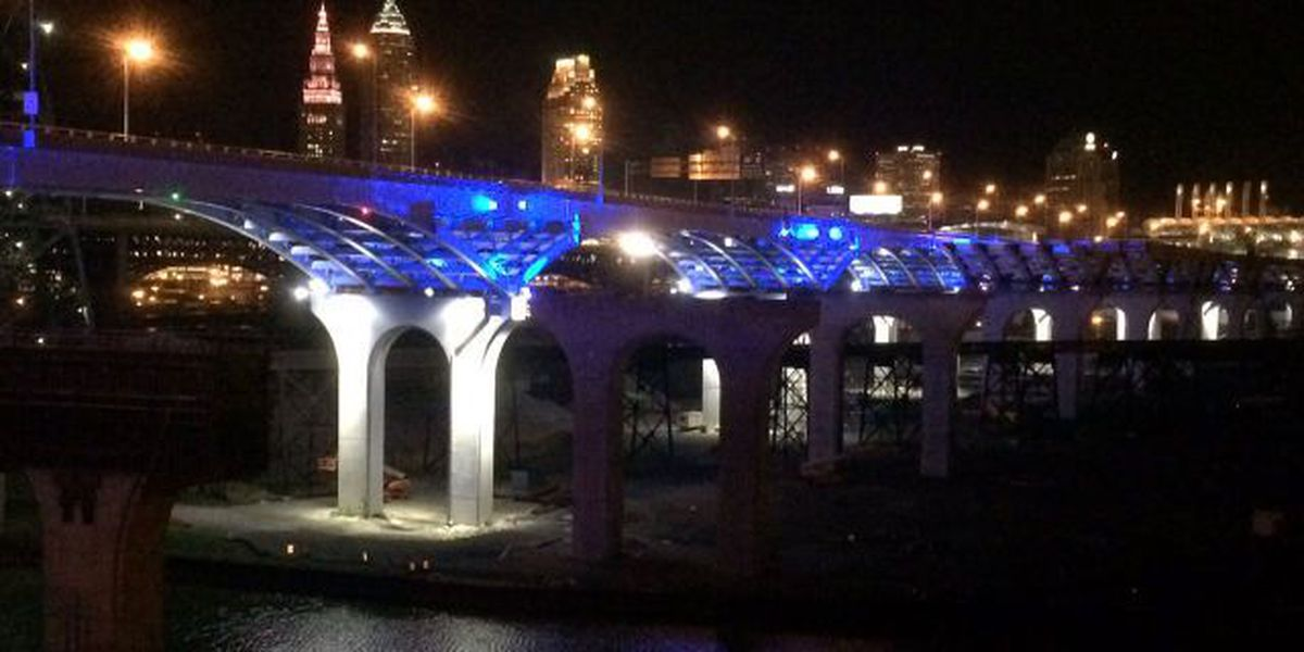 Lights tested under Innerbelt Bridge