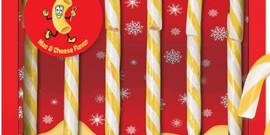 Company selling mac and cheese flavored candy canes