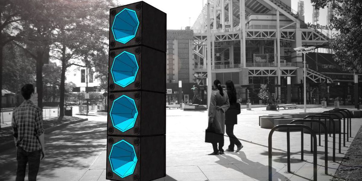 Speakers to be placed along E. 9th Street to rock visitors