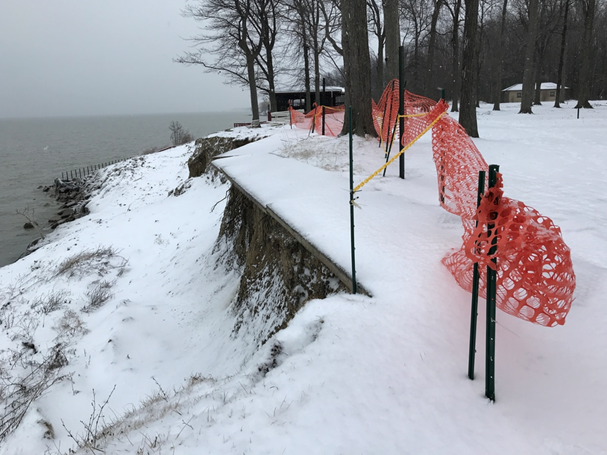 Ohio offering help for coastline erosion because Lake Erie is at record high levels